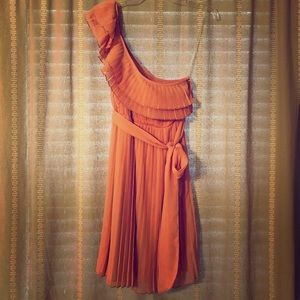 NWT Candie's peach one-sided dress